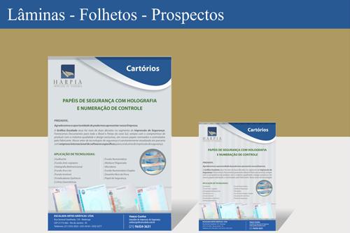Folhetos e Prospectos